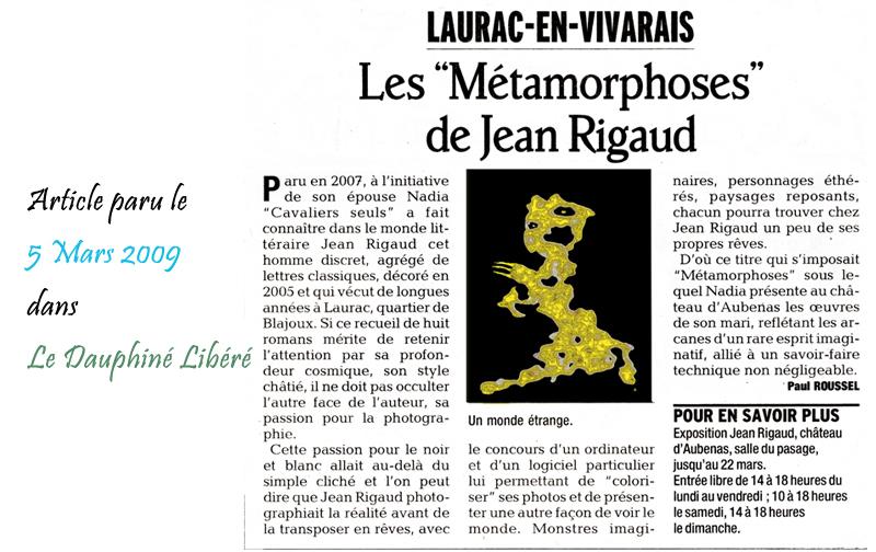 Le Dauphine Libéré 05/03/2009