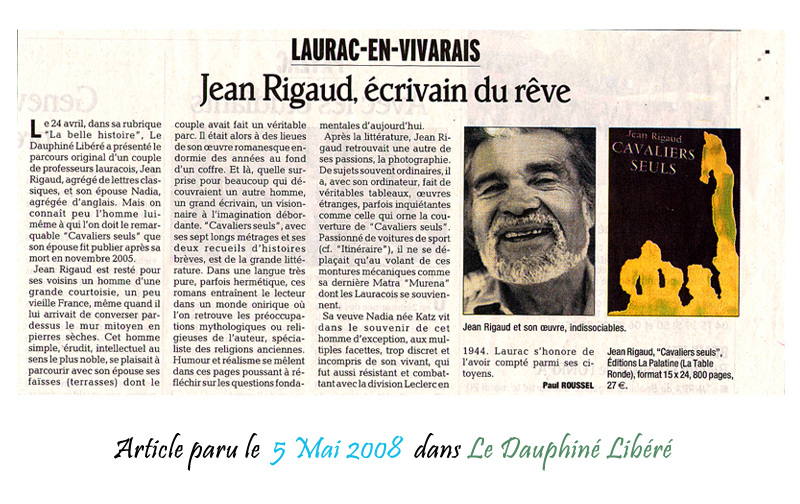 Le Dauphine Libéré 05/05/2008