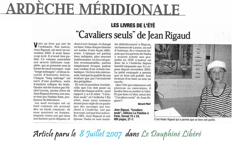 Le Dauphine Libéré 08/07/2007