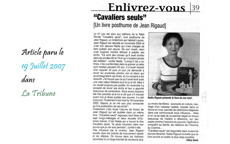 La Tribune 19/07/2007