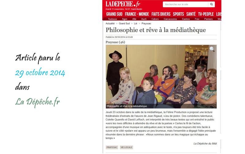La Dépêche 20/10/2014