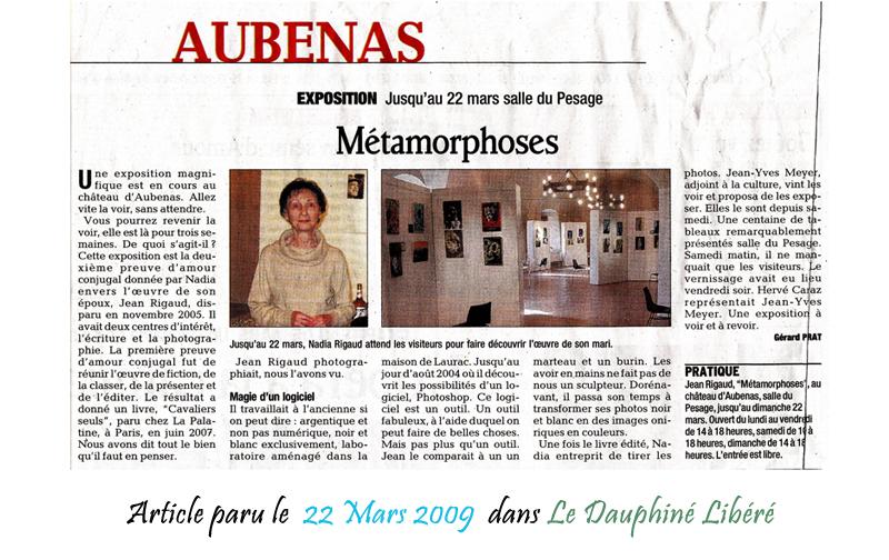Le Dauphine Libéré 22/03/2009
